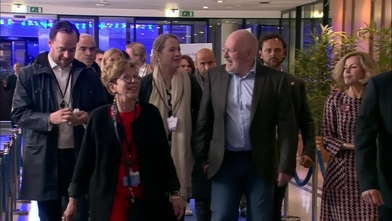 European Elections 2019 - Election night: arrival of Frans